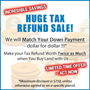Huge Tax Refund Sale!