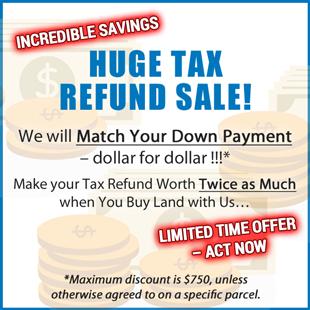 Huge Tax Refund Sale!